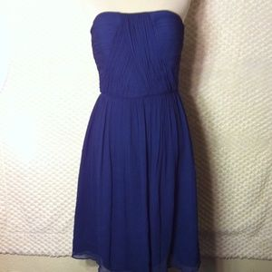 Donna Morgan 100% Silk Chiffon Strapless Dress